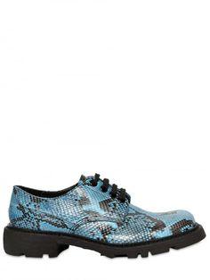 Jil Sander    Python Lace-up Shoes http://www.luisaviaroma.com/productid/itemcode/55I-02M004