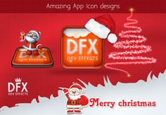 Christmas version of app icon design