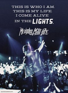 Memphis May Fire. I cannot wait to see these guys play at warped tour this year! Kinds Of Music, Music Love, Listening To Music, Music Is Life, Good Music, House Music, Memphis May Fire, Band Quotes, Music Quotes