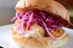 Crispy Garlic Shrimp Sandwich