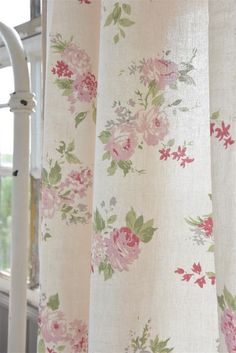 Curtain with Big Flowers