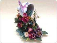 Cascata de Flores em Xícara 2