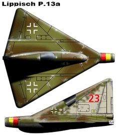 ✠ Lippisch P.13a (experimental ramjet-powered delta wing interceptor aircraft)