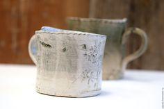 Купить Кружки керамические Утро и Вечер - кружка в подарок, керамика ручной работы, глина