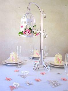 Hochzeitsdeko hängender Vogelkäfig groß