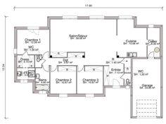 Votre constructeur de maison neuve RT 2012 gère la construction de votre maison contemporaine Alba de 121 m2 : 3 chambres, 5 pièces.