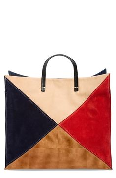 Clare V. 'Patchwork Simple' Leather Tote / Nordstrom