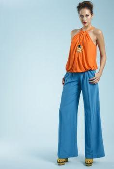 Trina Turk..orange and turquiose are so fun together