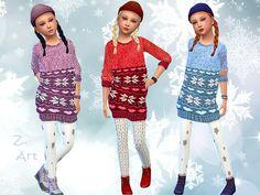 Wintertime sweater dress by Zuckerschnute20 at TSR via Sims 4 Updates