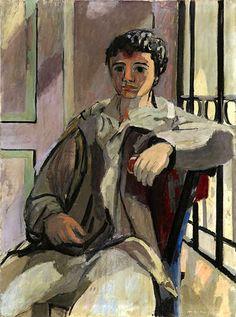 Max Gubler – Paolo, sitzend, 1932, 130 x 97 cm