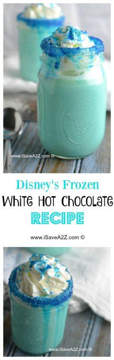 Disney's Frozen White Hot Chocolate Recipe