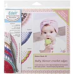 Ammees Babies EDGITE110 Edgit Piercing Crochet Hook and Book Set Baby Shower Crochet Edges ** To view further for this item, visit the image link.Note:It is affiliate link to Amazon.