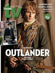 Outlander on the cover of TV Weekly