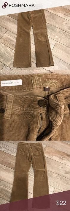 Kut from the Kloth camel colored cord jeans. Boot cut, Farrah Baby style. Size 6 with 39 inch inseam. Kut from the Kloth Pants Boot Cut & Flare