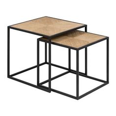 MOOS Ariel side table set of 2 Coffee Table 2019, Chair One, Hampton Furniture, Filigranes Design, Coffee Table Furniture, Timber Table, Iron Table, Office Table, Square Tables