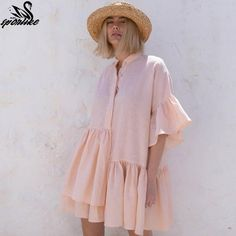 Women Swimsuit Cover Ups Mandarin Sleeve Kaftan Beach Tunic Dress Robe De Plage Solid White Cotton Pareo Beach Cover Up Women's Swimsuits & Cover Ups, Women Swimsuits, Bikini Cover Up, Swimsuit Cover Ups, Look Fashion, Fashion Outfits, Steampunk Fashion, Gothic Fashion, Crochet Beach Dress