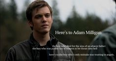 I hope the ending of Supernatural is Adam Milligan coming back and being reunited with Sam and Dean. I still feel bad for the guy, after 350+ years of torture.