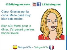 123dialogues.comLessons, Dialogues, ConversationsinEnglish, Spanish and French - Español Francés