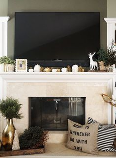 How to Decorate Your Mantel For The #Holidays! // Inspired By This -- #homedecor