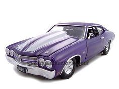 1970 Chevrolet Chevelle SS 454 Purple Pro Street 1/24 Diecast Car Model by Unique Replicas   Car Intensity