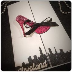 SEX in the CITY Themed Invitations with High Heel for Birthday Party - Christmas Party- Bachelorette Party- Wedding Shower- Lingerie Shower