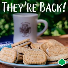 Today, National S'mores Day, Girl Scouts of the USA announced that the popular Girl Scout S'mores™ cookies will return as part of the Gs Cookies, Smores Cookies, Popular Girl, Girl Scout Cookies, Summer Crafts, Girl Scouts, Snacks, Lineup, Desserts
