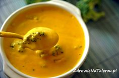 Zupa serowa z brokułami
