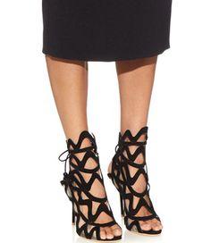 "Sophia Webster ""Mila"" Heeled Sandals in Black"