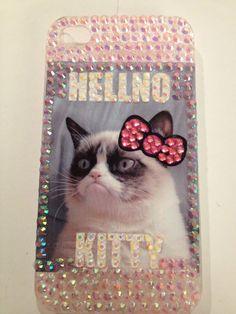 "Grumpy Cat Phone Case ""Hellno Kitty"""