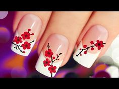 Yellow flowers New Nail Art 2017  The Best Nail Art Designs June 2017 - YouTube