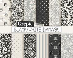 Pink damask digital paper: PINK DAMASK digital paper by Grepic