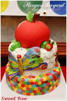 The Very Hungry Caterpillar 1st Birthday - by SweetBee @ CakesDecor.com - cake decorating website