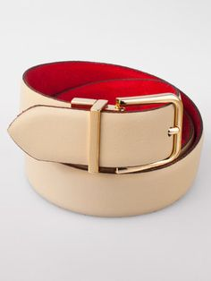 Men's American Apparel Reversible Leather Belt. A nude belt will compliment any men's wardrobe
