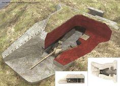 un emplazamiento H677 armado con un cañón 88mm PaK 43/41. La posición estaba diseñada para proporcionar un fuego de enfilada sobre un área de 2 a 3 km. El diseño del bunker permitía un radio de fuego de casi 60ú a derecha e izquierda, y su protección de cemento de 2 metros de espesor necesitaba de la excavación de 150 metros cúbicos, y la utilización de 380 metros cúbicos de cemento. Un total de 146 bunkers H677 con cañón de 88mm. 55 de ellos en el sector del VII Ejército alemán en…