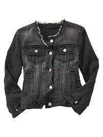 1969 collarless denim jacket