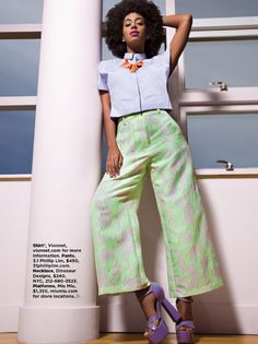 Pastel Pop: Solange Knowles for ESSENCE Magazine May 2014. Photo:Greg Lotus Short Hair Outfits, Style And Grace, My Style, Essence Magazine, Beyonce Style, Pastel Fashion, Women's Fashion, Solange Knowles, Cute Celebrities