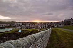 Sunset. Lerwick. Shetland. Scotland