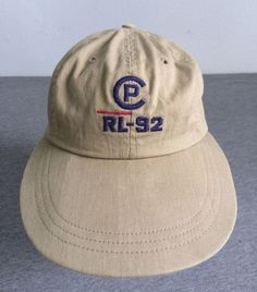 c9cce93ae04 POLO RALPH LAUREN 1992 Hat CP-RL Long Bill Fitted USA Made Pwing Stadium  EUC Sm  PoloRalphLauren  BaseballCap
