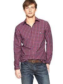 Patch pocket plaid shirt (original fit)