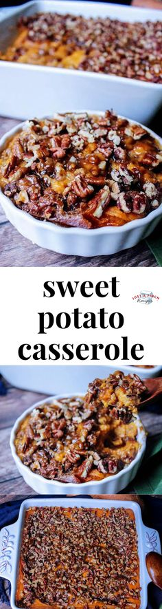 Sweet Potato Casserole is an easy Thanksgiving side dish recipe for your holiday table! Sweet Potato Casserole is an easy Thanksgiving side dish recipe for your holiday table! Thanksgiving Casserole, Thanksgiving Side Dishes, Thanksgiving Recipes, Fall Recipes, Holiday Recipes, Thanksgiving Vegetables, Thanksgiving Prayer, Sweet Potato Casserole, Sweet Potato Recipes