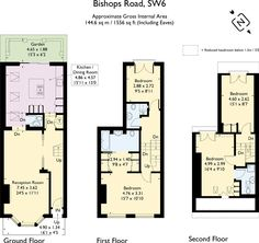 Utility, ensuite master bathroom and 2 loft rooms and bathroom Victorian Townhouse, Victorian Terrace, Victorian House, Terrace Floor, Small Terrace, House Extension Plans, Extension Ideas, Loft Floor Plans, House Floor Plans