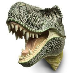 Sure you could hunt deer, a bear, maybe even a lion, but is there anything more ferocious than a T-Rex? If you could bag a T-Rex and mount it's head to your wall, you would be the manliest man ever, Well, now you can make it look like you killed a T-Rex with this T-Rex Hunter's Trophy.