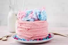 Cotton Candy Layer Cake Recipe