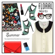 """""""Floral Mini Skirt"""" by cara-mia-mon-cher ❤ liked on Polyvore featuring NARS Cosmetics, Steve Madden, Alexander Wang, Anna-Karin Karlsson, Smashbox and Floralskirts"""