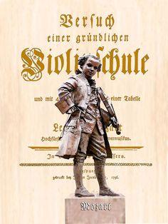 'Mozarts Violinschule' von Dirk h. Wendt bei artflakes.com als Poster oder Kunstdruck $18.03
