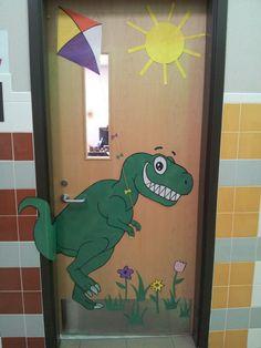 Hello Spring! Classroom door.