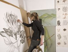 Large Format Drawing   Sarah Graham I need to try this with my giant graphite shell