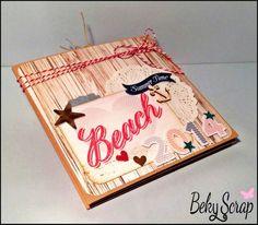 Mini álbum acordeón de Beky Scrap con kit de septiembre de www.scraptodream.com