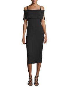 Pascal+Off-The-Shoulder+Sheath+Dress,+Black,+Plus+Size+by+Rachel+Pally+at+Neiman+Marcus.