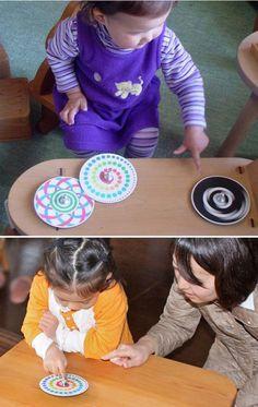 【楽天市場】ポイント10倍 ●虹独楽(美しいCDコマ 日本グッド・トイ委員会選定おもちゃ)色彩の不思議 指先の訓練 リハビリ バリアフリー 日本製 6ヶ月 1歳 2歳 3歳 4歳 5歳 誕生日ギフト~出産祝い 男の子 女の子 誕生祝い 教材 軸を外して紙にデザインすれば自分でも作れます。:木のおもちゃ製作所・銀河工房